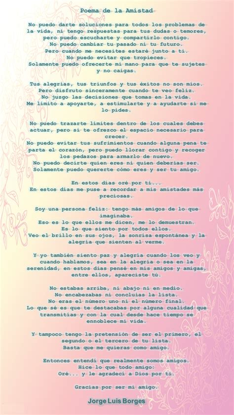 poemas de jorge luis borges poemas de busca tus poemas poema a la amistad jorge luis borges red floralred floral