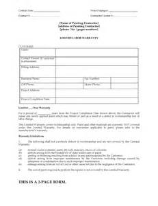 letter templates for painting painting limited warranty certificate form forms