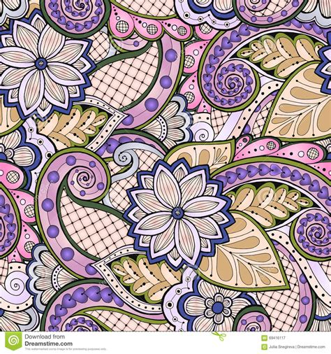 paisley doodle vector free doodle seamless background in vector with doodles flowers