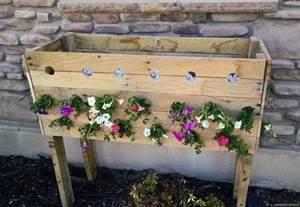 pallet planter boxes pallet planter box for cascading flowers tool belt