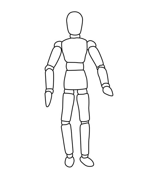 the boot kidz mannequin outlines for drawing planning