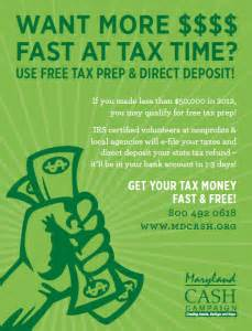 Income tax flyers maryland cash campaign info for employers