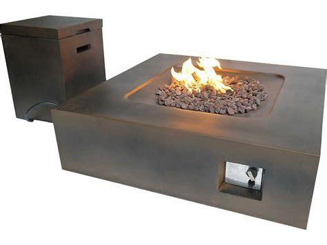 rectangular propane table teva flint rectangular pit table with propane storage