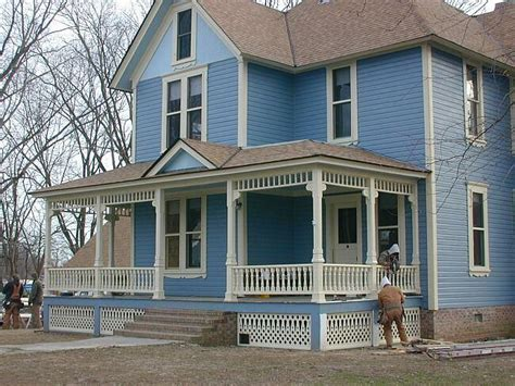 side porch designs blue house is scraped and repainted i the