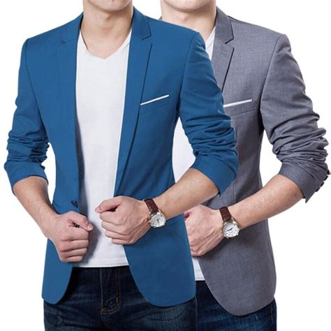 Baju Joger Pant Blue Cn fashion stylish casual slim formal one button suit