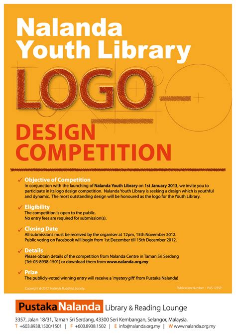 design a competition poster nalanda youth library logo design competition nalanda