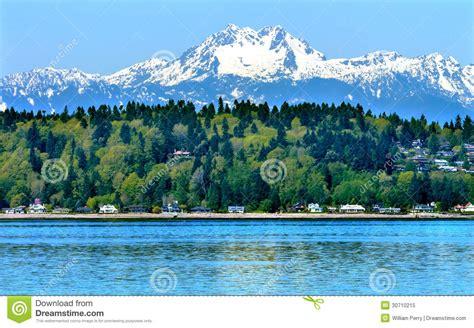 bainbridge island puget sound snowy mt olympus washington