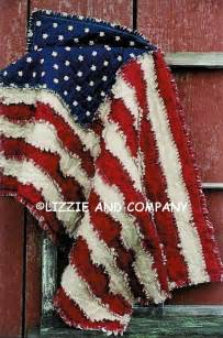 rag flag quilt 42 x 27 and larger 53 x