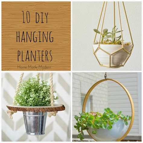 modern hanging planters home made modern hanging planters