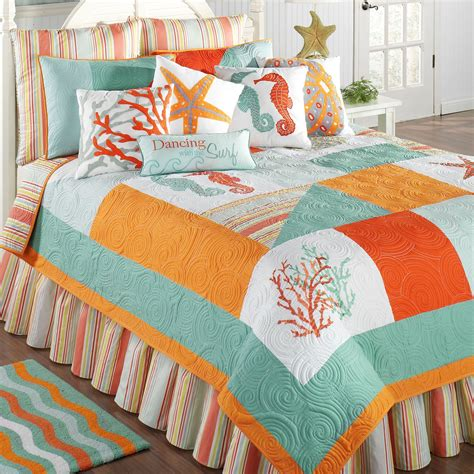 Patchwork Quilt Comforter - key coastal patchwork quilt bedding