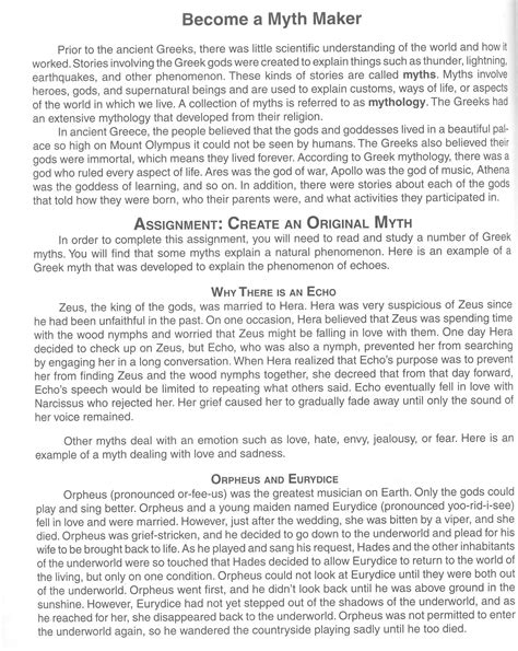 Mythology Essays by Mythology Research Paper Essay Questions On Revolution Teaching How To Write