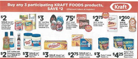 dollar general food dollar general 2 instant savings on kraft food items 8 162 jell o more