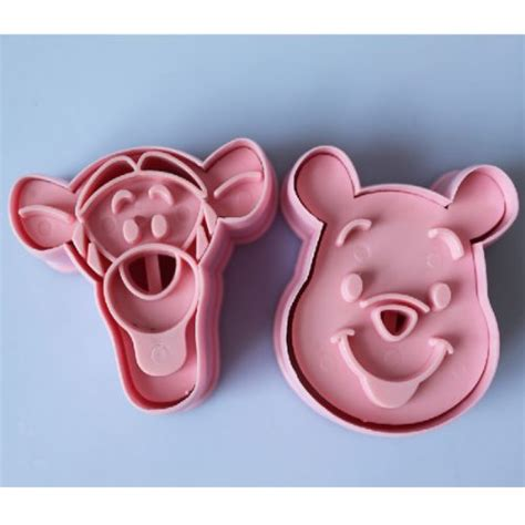 Hv8776 Cookies Mold Winnie The Pooh Tigger 2 In 1 Kode Bis8830 2 2pcs pooh tigger cookie cutter fondant cake sugarcraft import it all