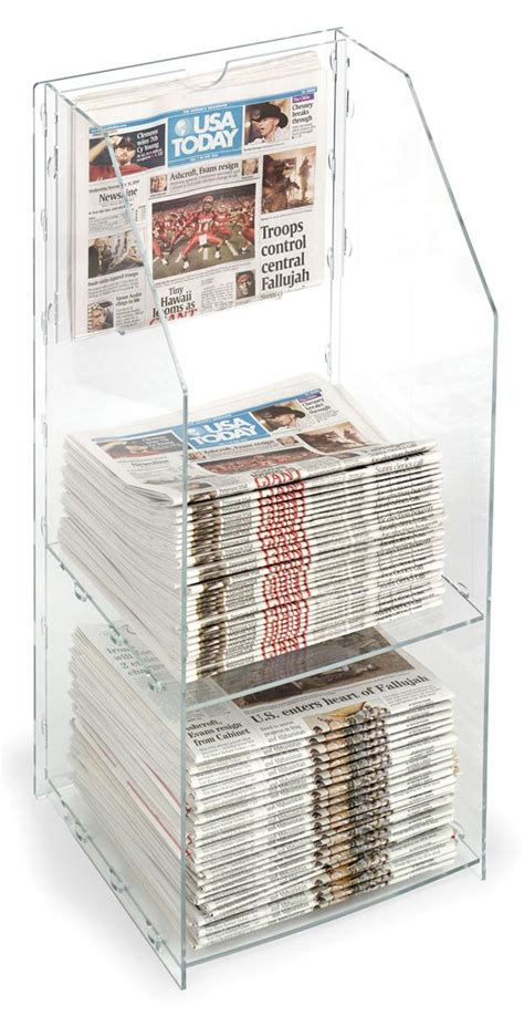 Newspaper Racks For Sale Used by Small Acrylic Newspaper Rack Designed For Countertop Use