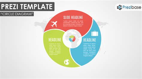 Infographic Diagram Prezi Templates Prezibase Visual Diagram Template