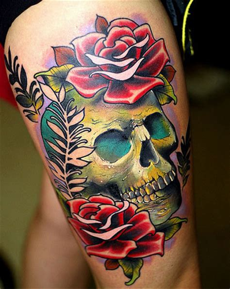 skull and roses tattoo meaning skull and roses tattoos designs ideas and meaning