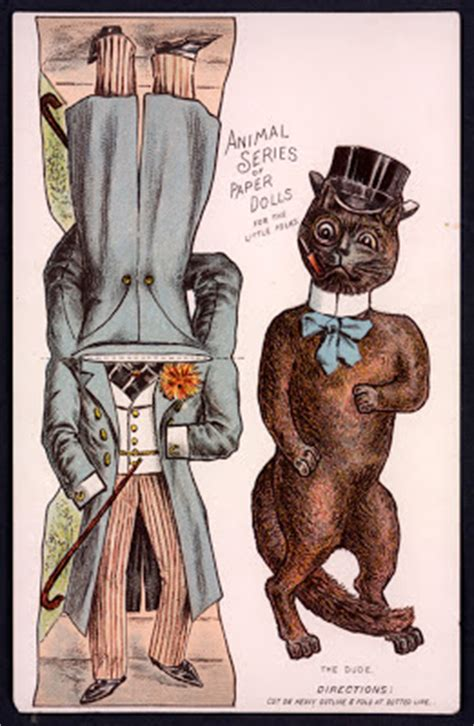 Animal Series Doll The Paper Collector Animal Series Of Paper Dolls C 1890s
