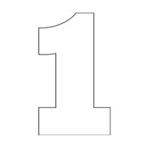 number 1 template number 1 pattern use the printable outline for crafts