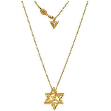 merkaba fancy yellow gold pendant necklace