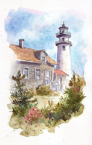 watercolor lighthouse tutorial step by step watercolor lighthouse tutorial watercolour