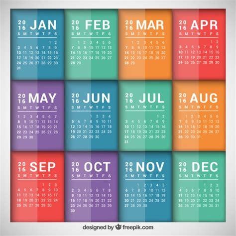 calendar template ai 2 colorful calendar template vector free