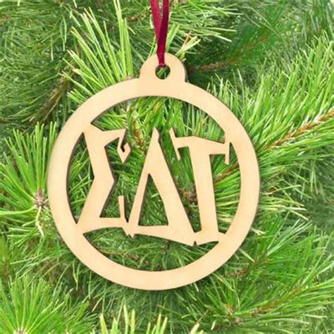 sorority and fraternity christmas ornaments something greek