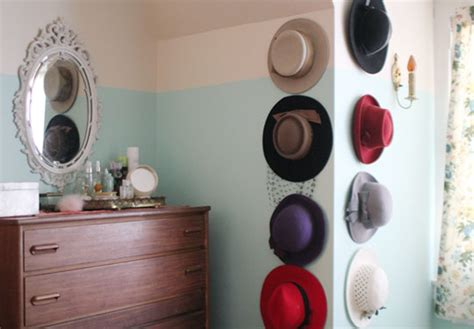 wardrobe organization hat storage display apartment