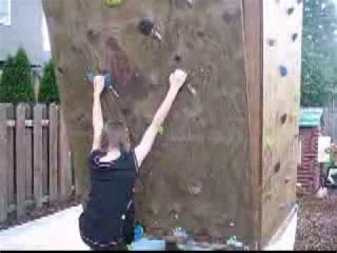 rock climbing wall for backyard backyard rock climbing wall overhang youtube