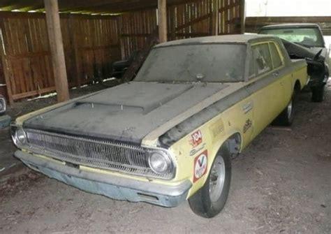 old nascar race car barn finds real barn find cars for sale 1965 dodge coronet 426 hemi