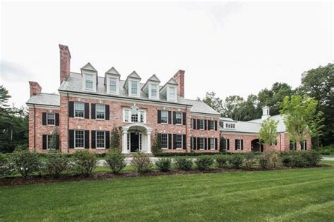 colonial mansion 15 000 square foot brick colonial mansion in farmington