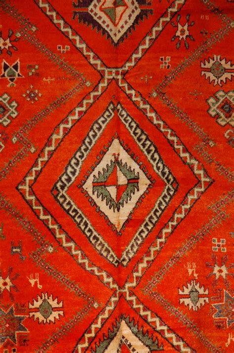 tribal rugs moroccan vintage orange berber tribal rug