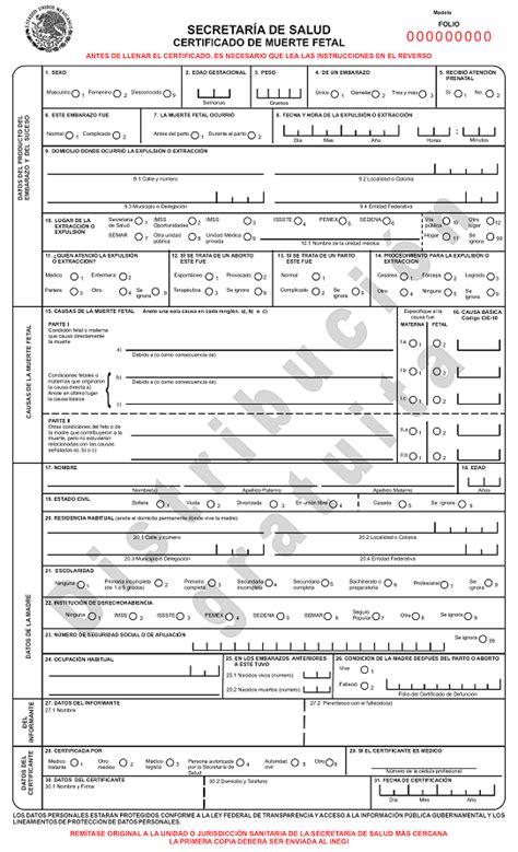 certificado de defuncion certificado de defuncion mexico hairstylegalleries com