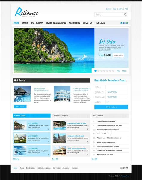 joomla template with video travel guide joomla template 27587