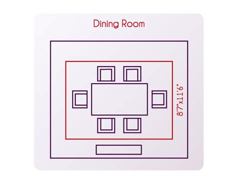 Standard Dining Room Size In Standard Size Area Rug For Living Room Specs Price