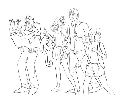 pics of scooby doo and the gang az coloring pages
