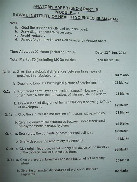 anatomy of a research paper anatomy papers mbbs students club