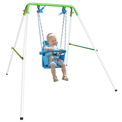 portable swing set upc 687064053892 indoor outdoor portable baby toddler