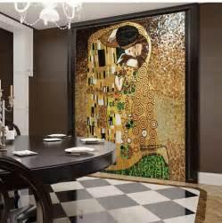 glass wall murals aliexpress com buy the kiss of gustav klimt hand made