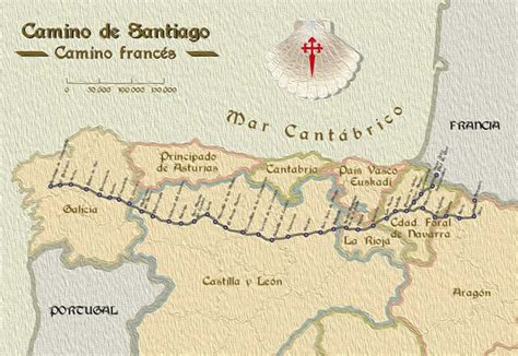 camino de santiago maps walking the camino de santiago backroads