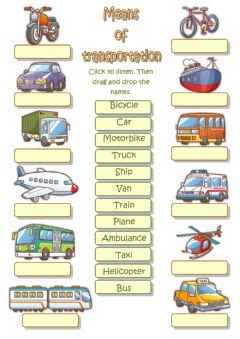 boat in spanish means english exercises transports