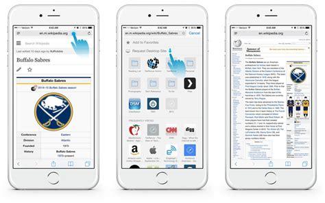 safari web browser mobile how to view the desktop version of a website in ios 8 safari