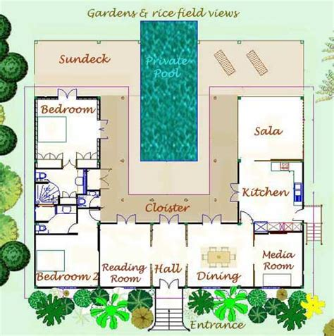 holiday house floor plans thailand holiday villa floor plan and layout of rice paddy villa thai house for rent