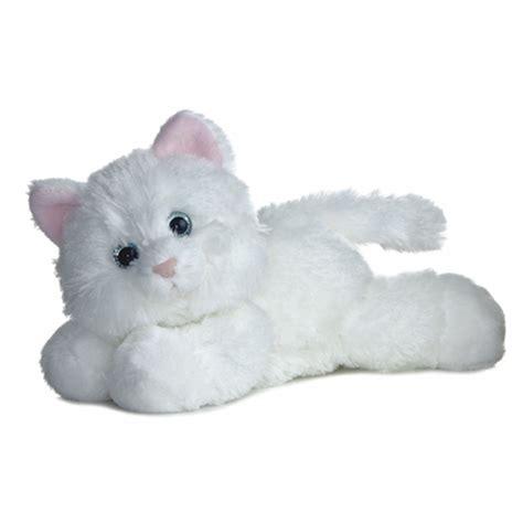 cat stuffed animals sugar the stuffed white cat by