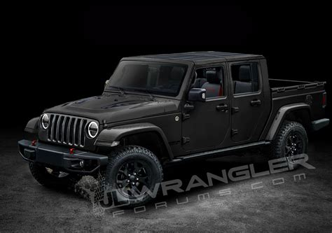 jeep truck black jeep wrangler pickup ute rendered photos caradvice
