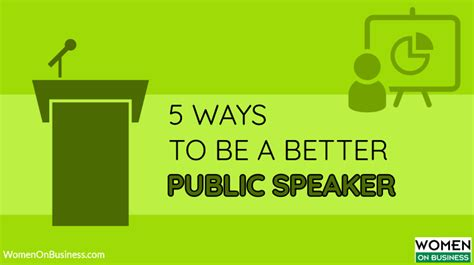 5 Ways To Be Nicer To Your by 5 Ways To Be A Better Speaker