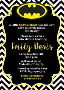 batman baby shower invitation baby invitation