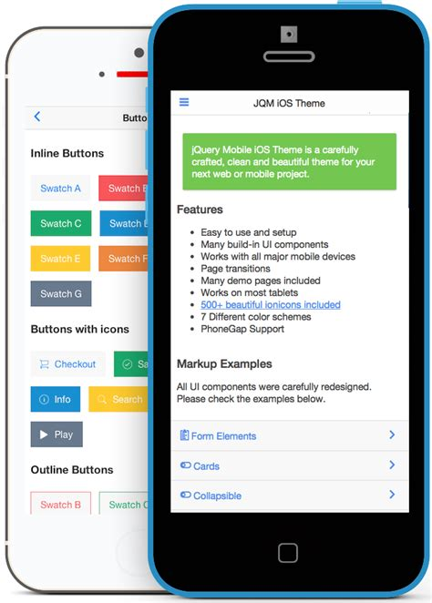 mobile themes in html jquery mobile ios theme