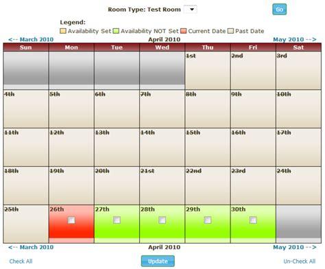 Availability Calendar Availability Calendar Module Cmation Cms Providing