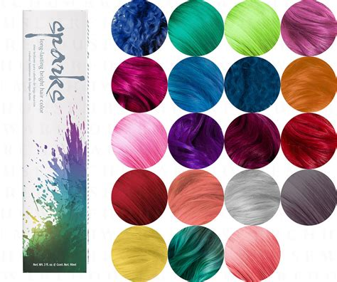 spark color chart sparks longlasting bright hair color dyes ebay of 29