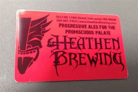 Portland Oregon Gift Cards - gift card heathen brewing micro beer and kegs vancouver wa portland or